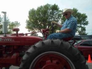 Odyssey Through Nebraska Dad on a Tractor