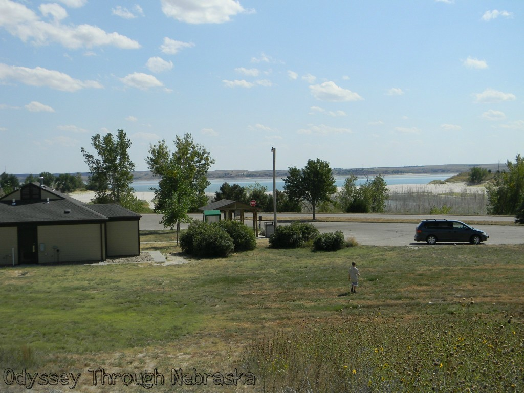 A View from the lake mcconaughy rubbing post