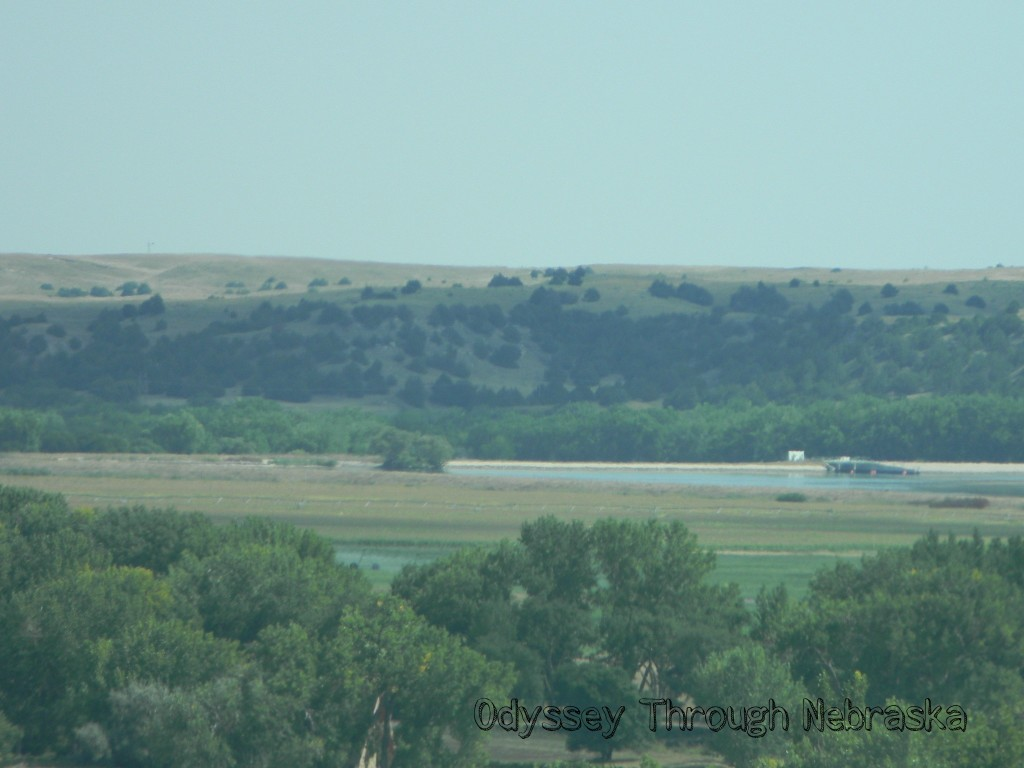 Lake McConaughy from the car