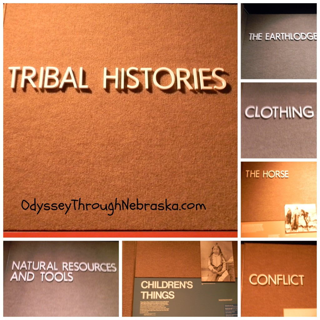 Nebraska History Native American Theme Collage