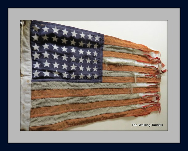 Walking Tourists Lincoln County Historical Museum Flag