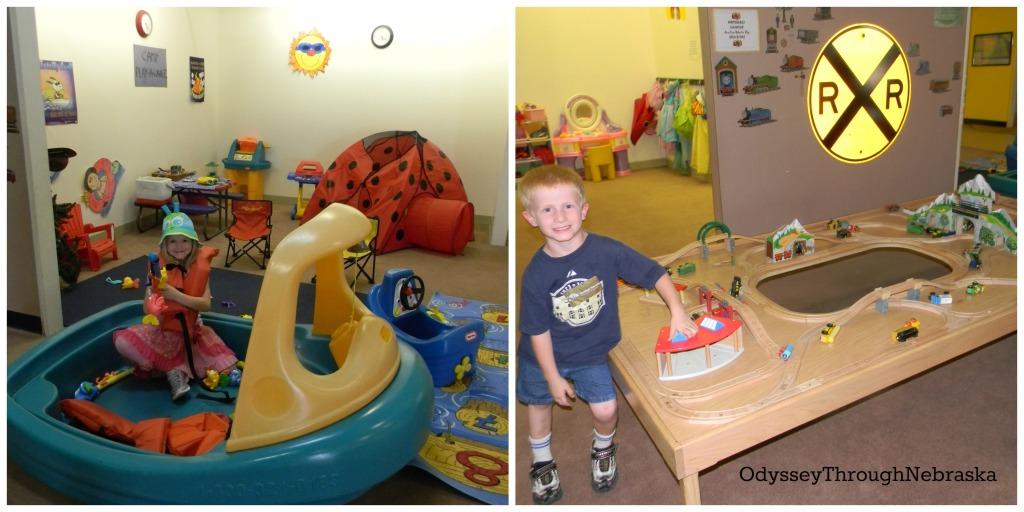 Children's Museum of Central Nebraska Boat & RR Collage