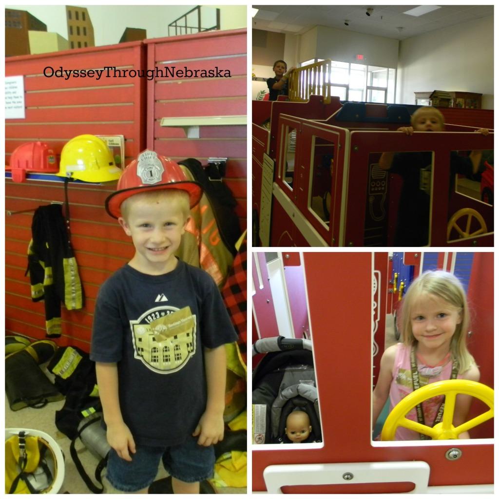 Children's Museum of Central Nebraska Fire Station Collage