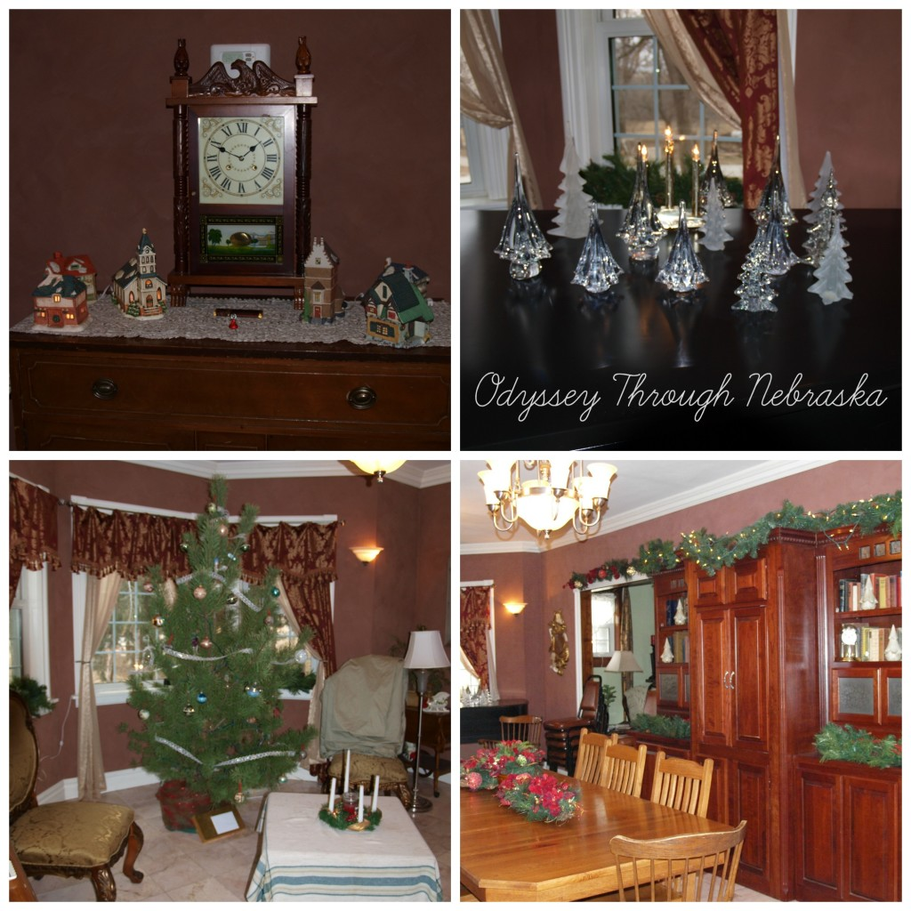 Prairie Creek Inn Bed & Breakfast Christmas dining room collage