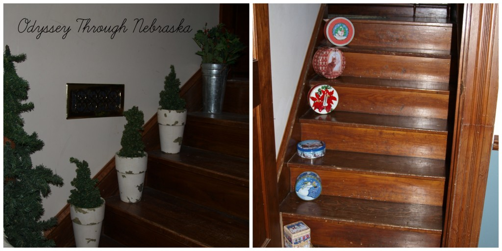 Prairie Creek Inn Bed & Breakfast Christmas staircase collage