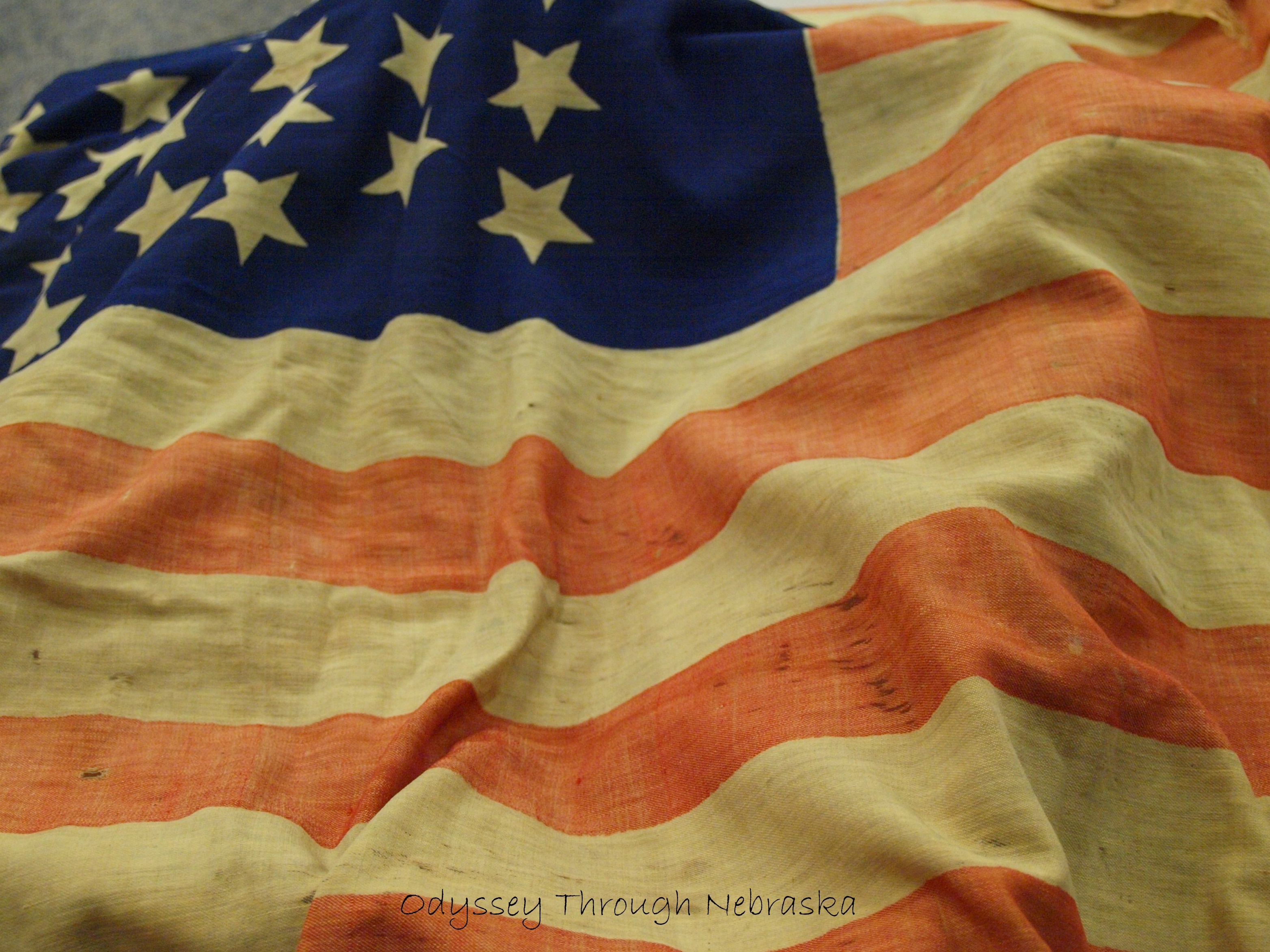 This Gettysburg flag is now a part of the Union College archive collection