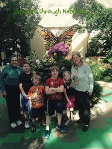 Lauritzen Gardens Lego Display Kids, Mom, Grammi