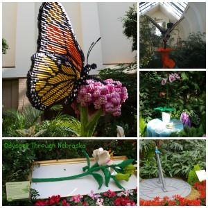 Lauritzen Gardens Lego Flower Collage