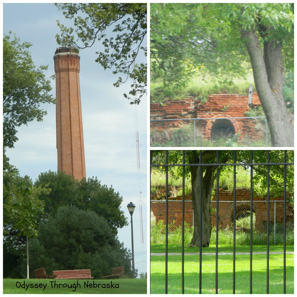 Hastings Brickyard Park brick ruins collage