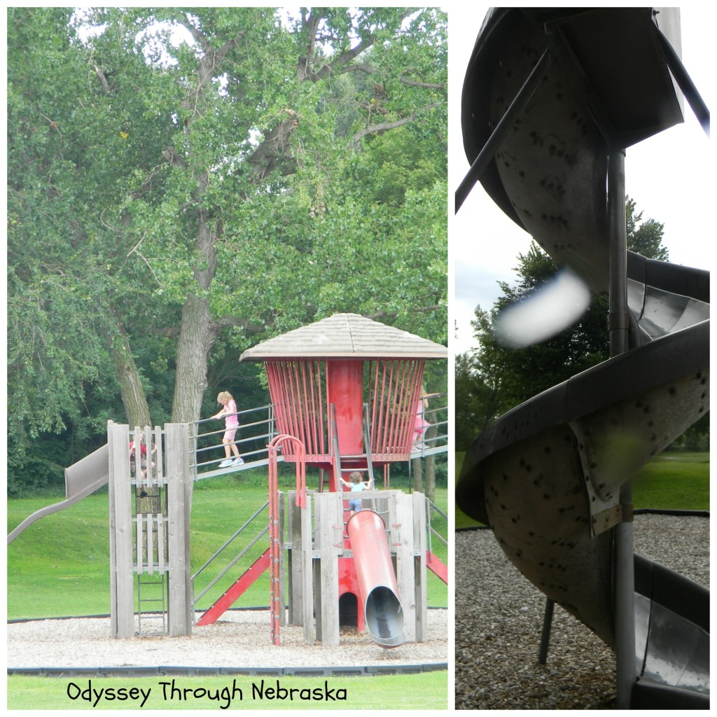 Hastings Brickyard Park playground collage