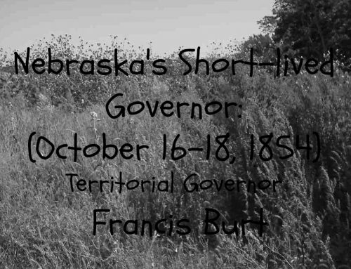 Friday Flashback: Nebraska's First Short-Term Governor