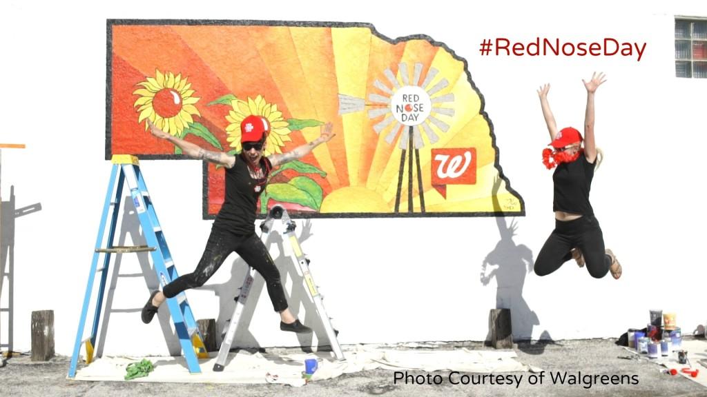 Walgreens #RedNoseDay in Nebraska Finished Mural