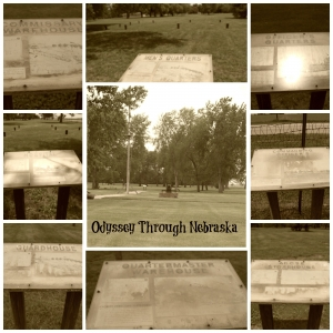 Fort Kearny Sepia Historic Buildings Collage