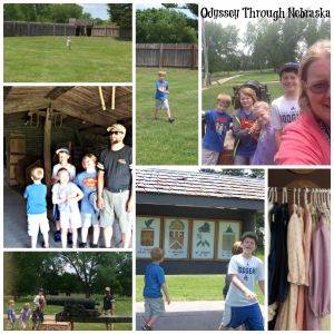Fort Kearny with the Family Collage