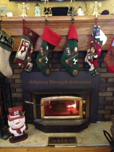 The Christmas mantle at my house by Odyssey Through Nebraska