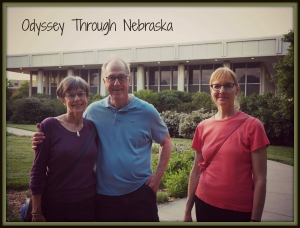 Pictured are George and Sara Briggs with UNL architect Eileen Bergt