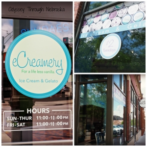 eCreamery serves ice cream from its location in the Historic Dundee neighborhood in Omaha