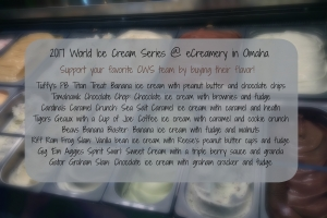 World Ice Cream Series competition at eCreamery in Omaha