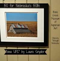 Photographer Laura Snyder picture for 150 for Nebraska's 150th at Bone Creek Museum of Agrarian Art