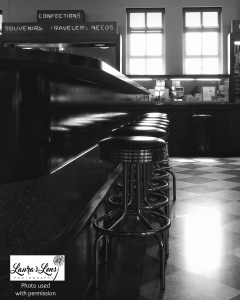 Durham Museum soda fountain photograph by Laura's Lens Photography