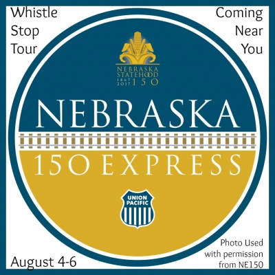 On August 4th to 6th, the Union Pacific Streamliner Locomotive is travelling across Nebraska for a whistle-stop adventure