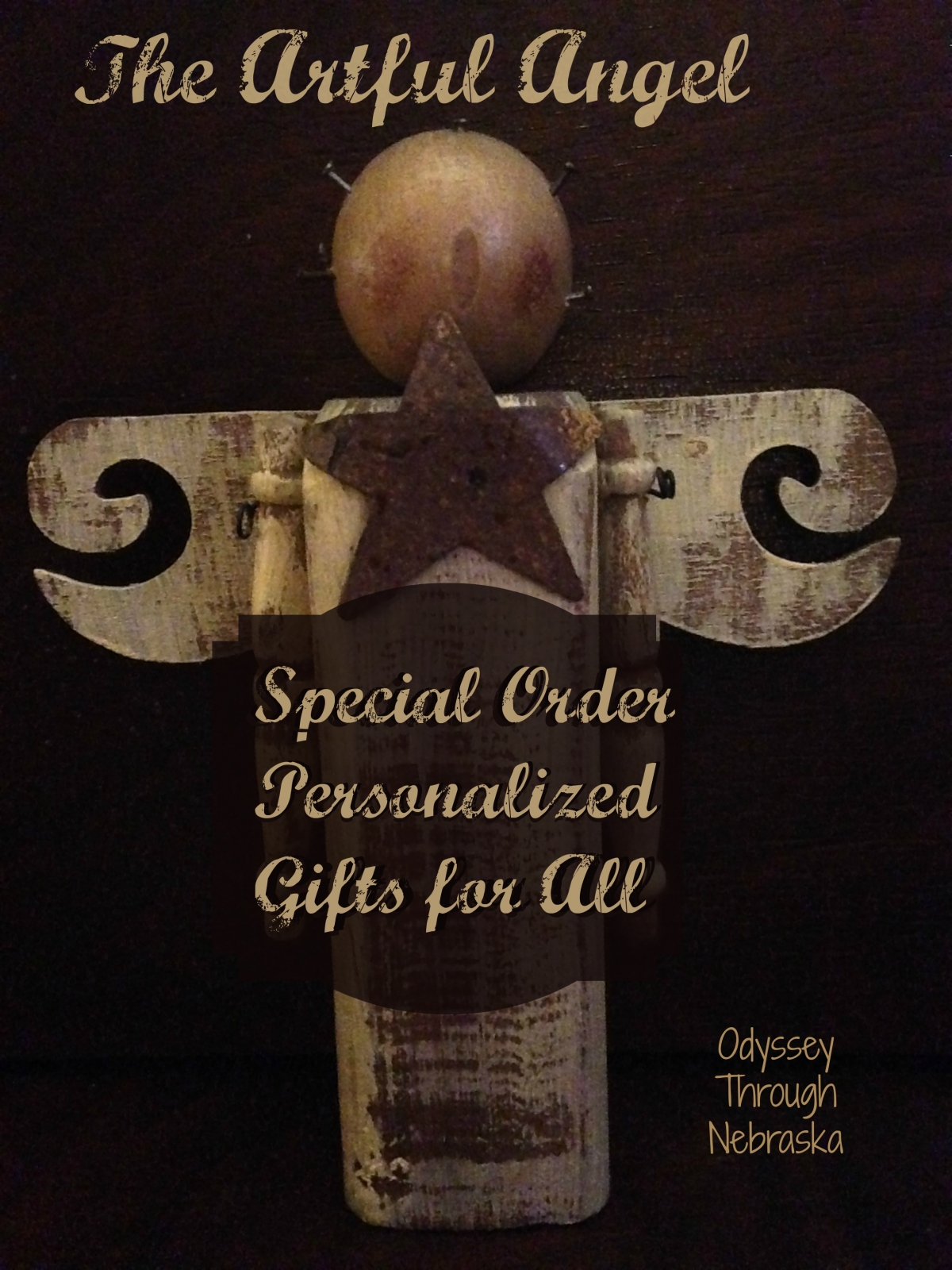 Personalized gifts can be custom made by the Artful Angel