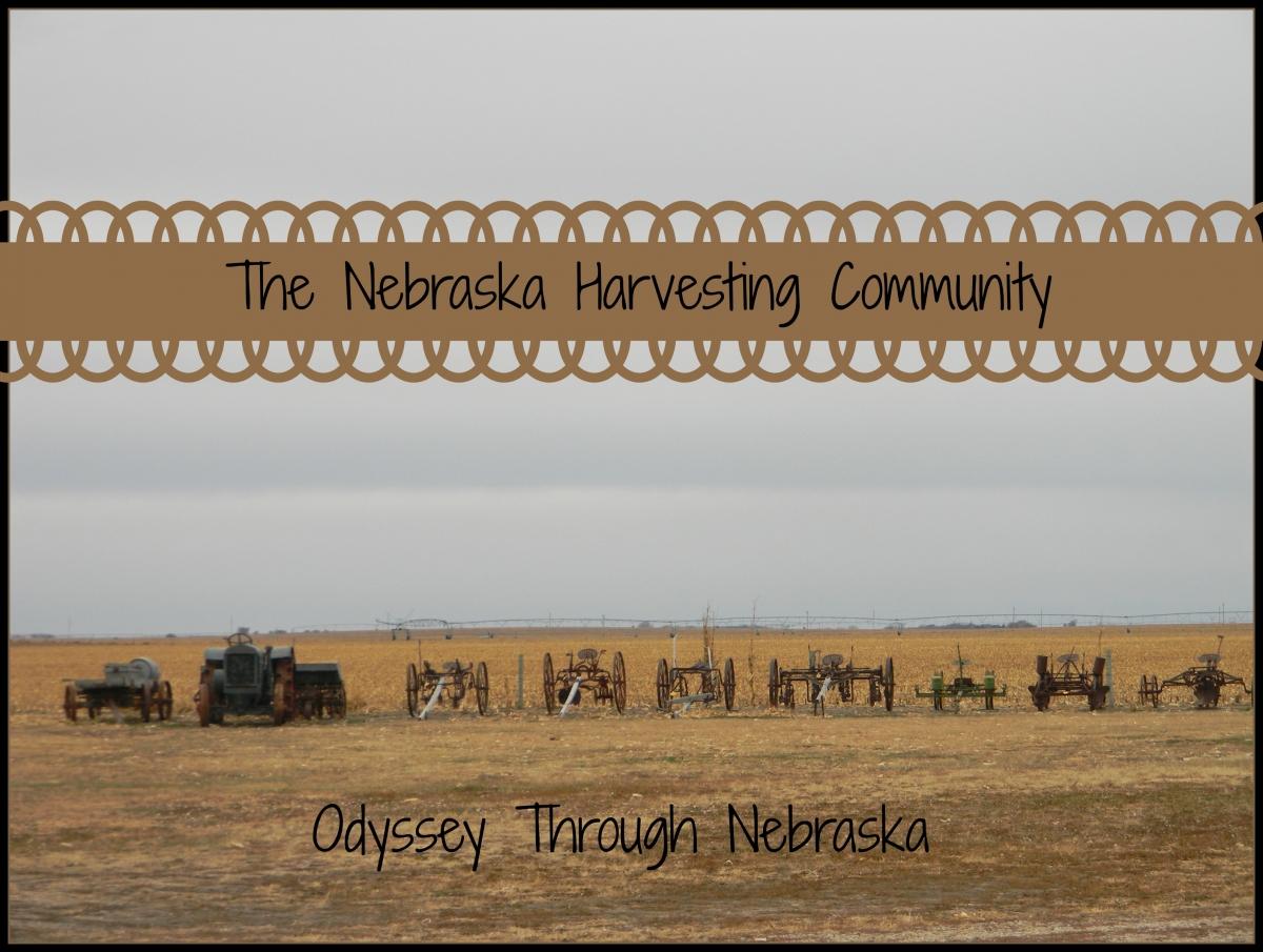 Harvesting crops in Nebraska