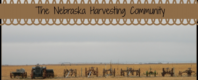 Harvesting crops in Nebraska