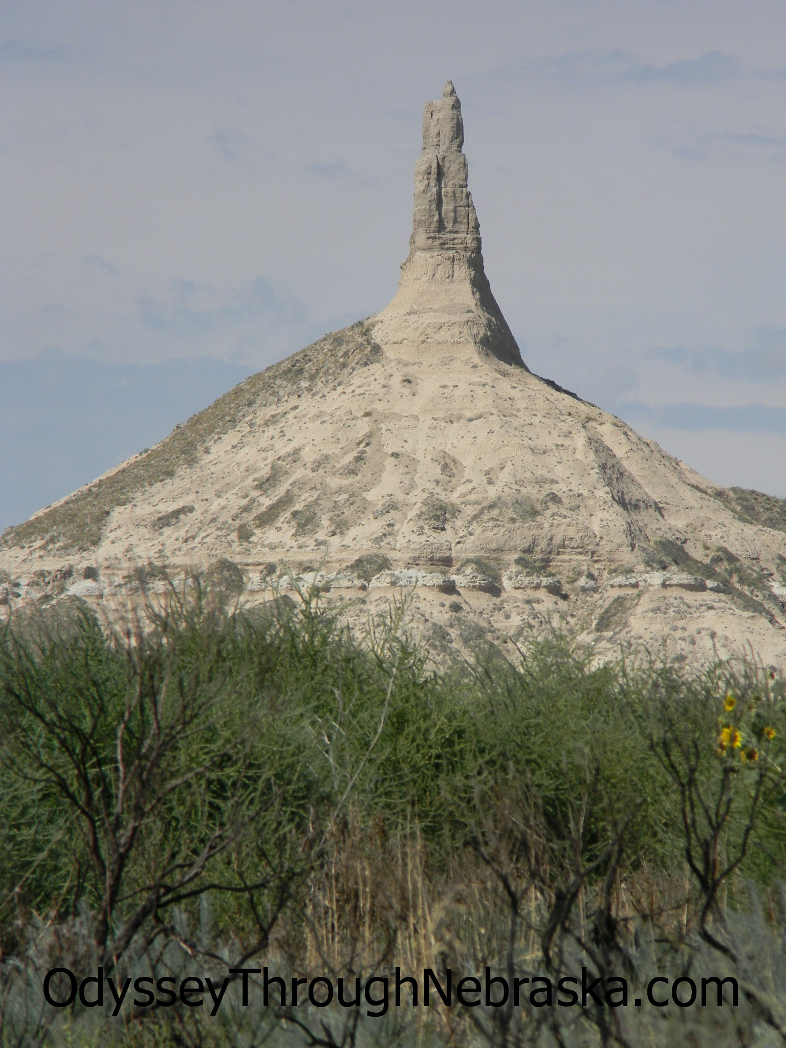 Chimney Rock symbolized Nebraska to the pioneers