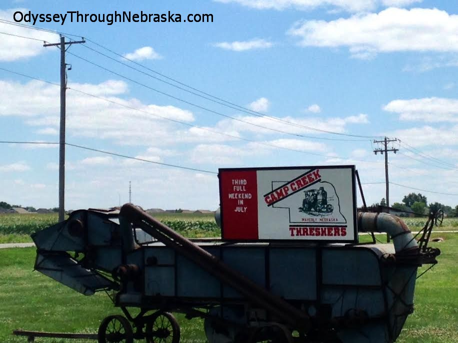 Farming Implement show in Nebraska historic tractors
