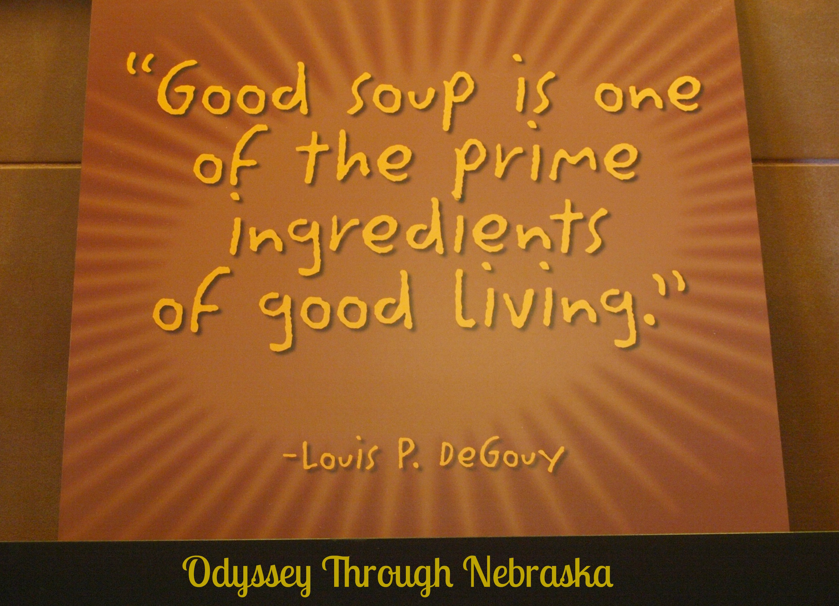 Soup Quotes: Soup At Zoup!: Warming Up In Cold Nebraska By Odyssey