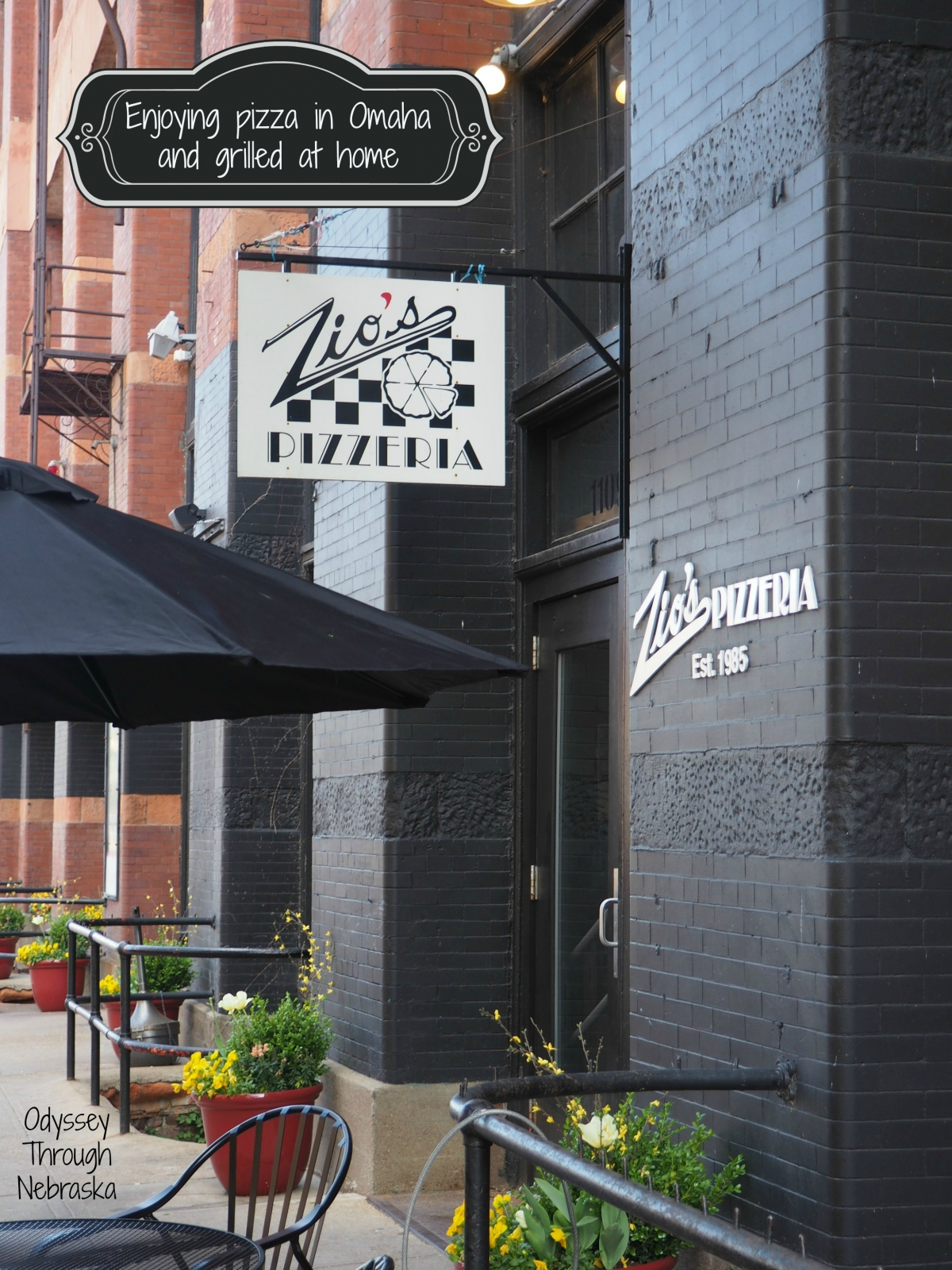 Zio's Pizzeria serves New York style pizza
