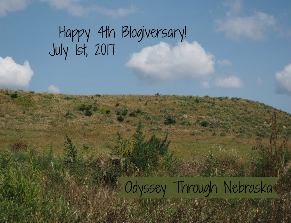 Happy 4th Blogiversary!  Celebrating 4 years of Odyssey Through Nebraska