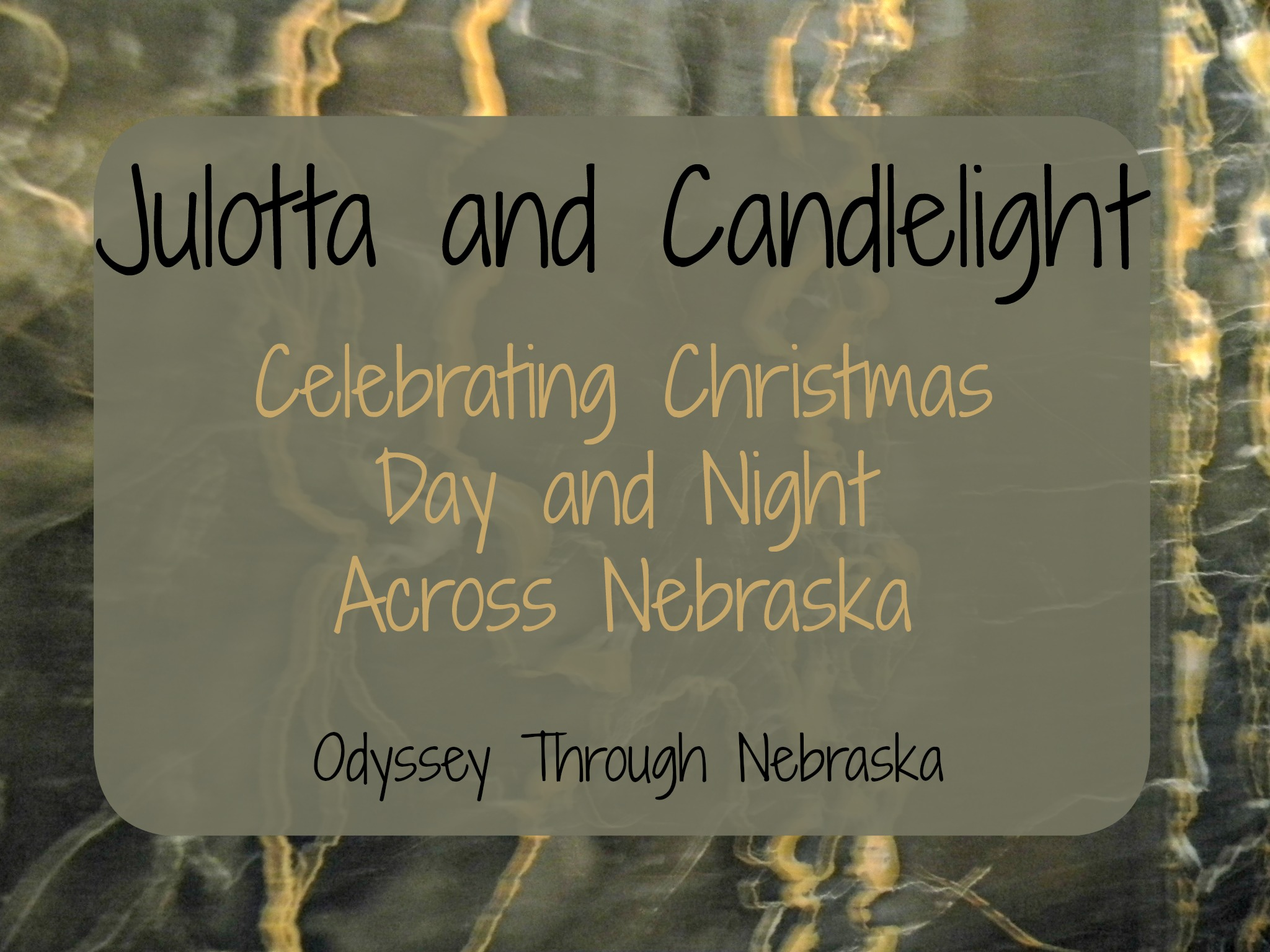 Whether at an early morning Julotta service or midnight candlelight service, Christmas is celebrated across Nebraska