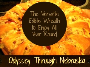 How to make an edible wreath using crescent rolls