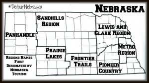 Detour Nebraska map from book