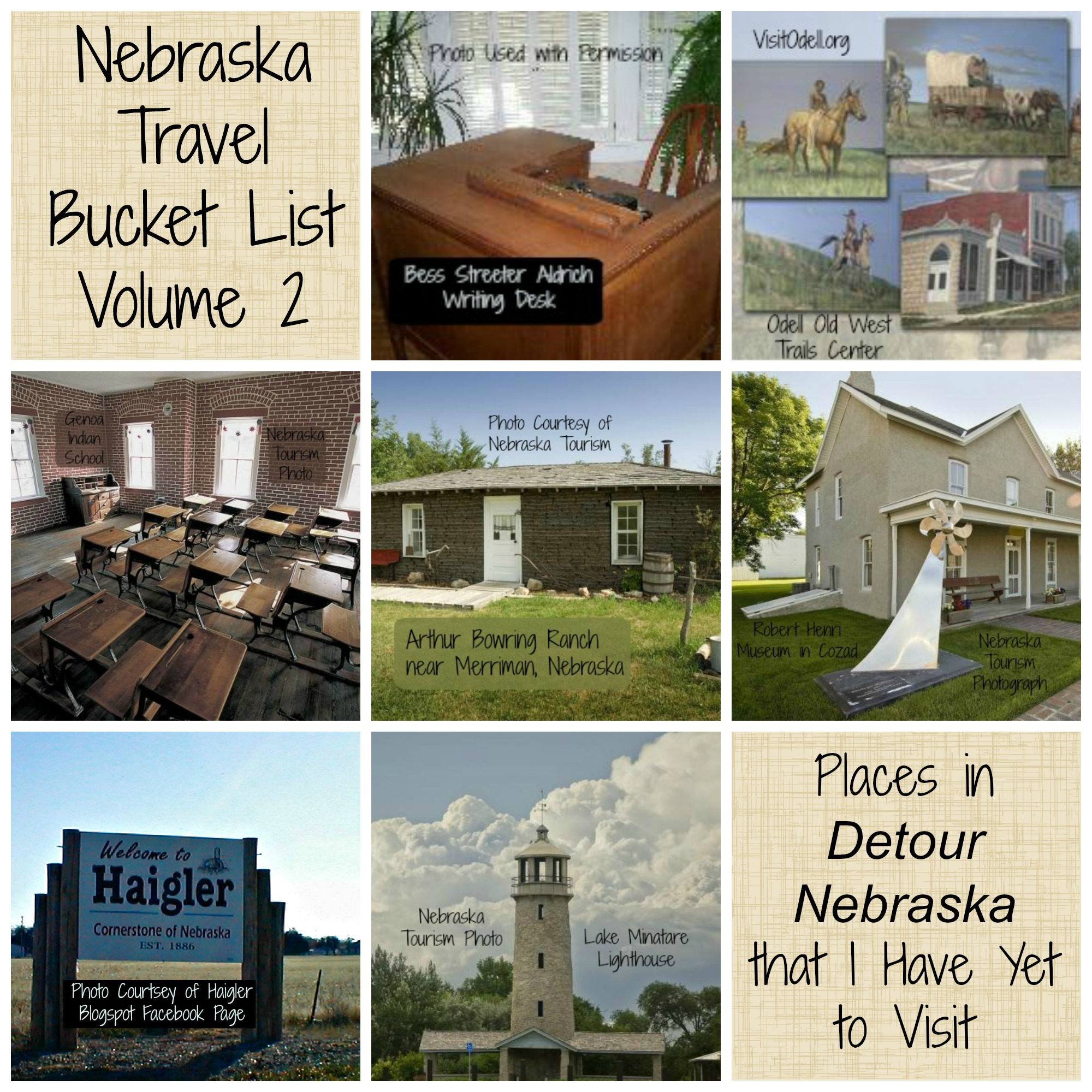 Nebraska Travel Bucket List Volume 2