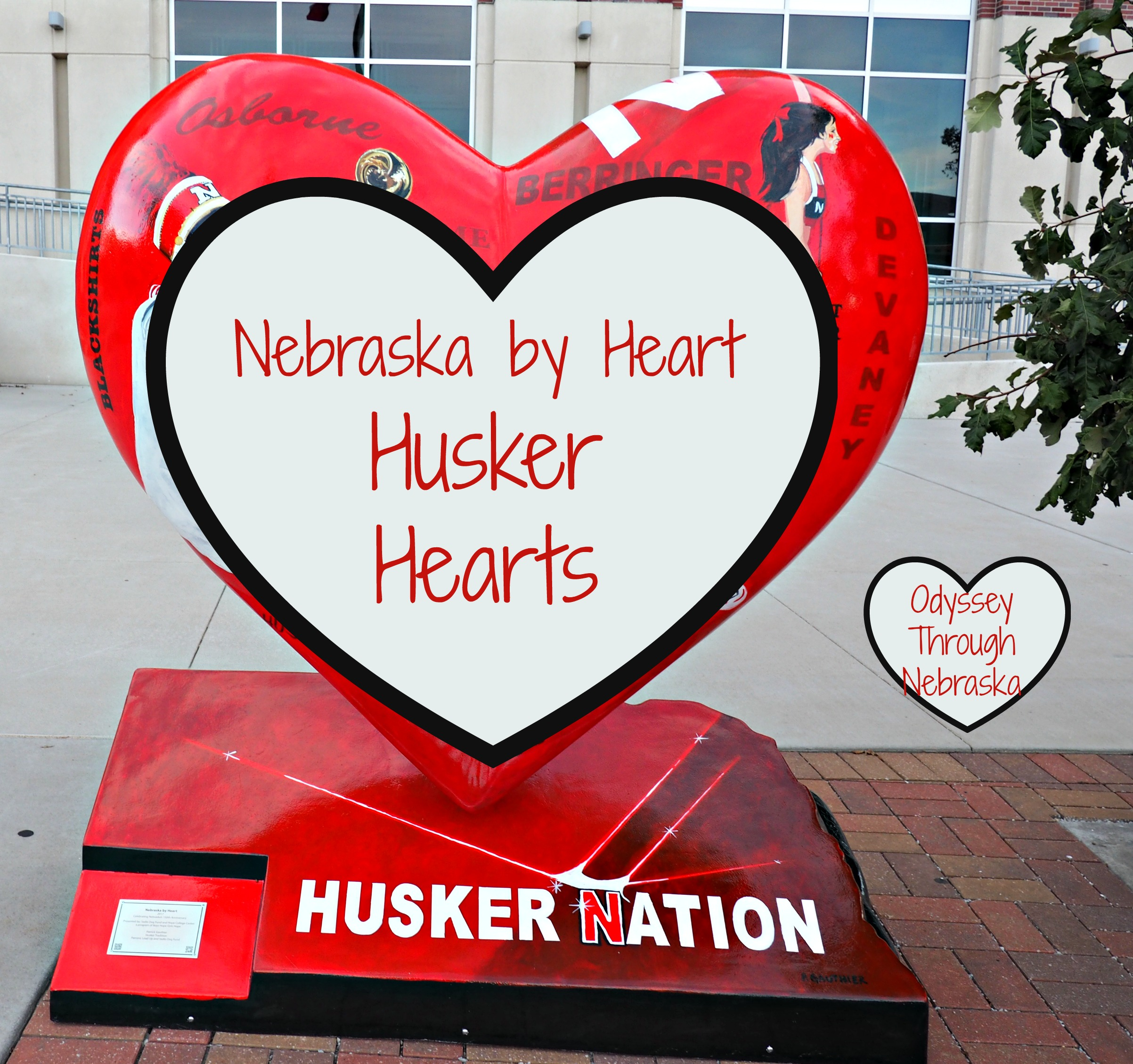Nebraska by Heart Husker Hearts